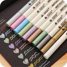 Маркеры для заточки 10 шт./лот, металлический цветной маркер, граффити, многоцветные цветные маркеры, ручка для заточки, канцелярские принадл...