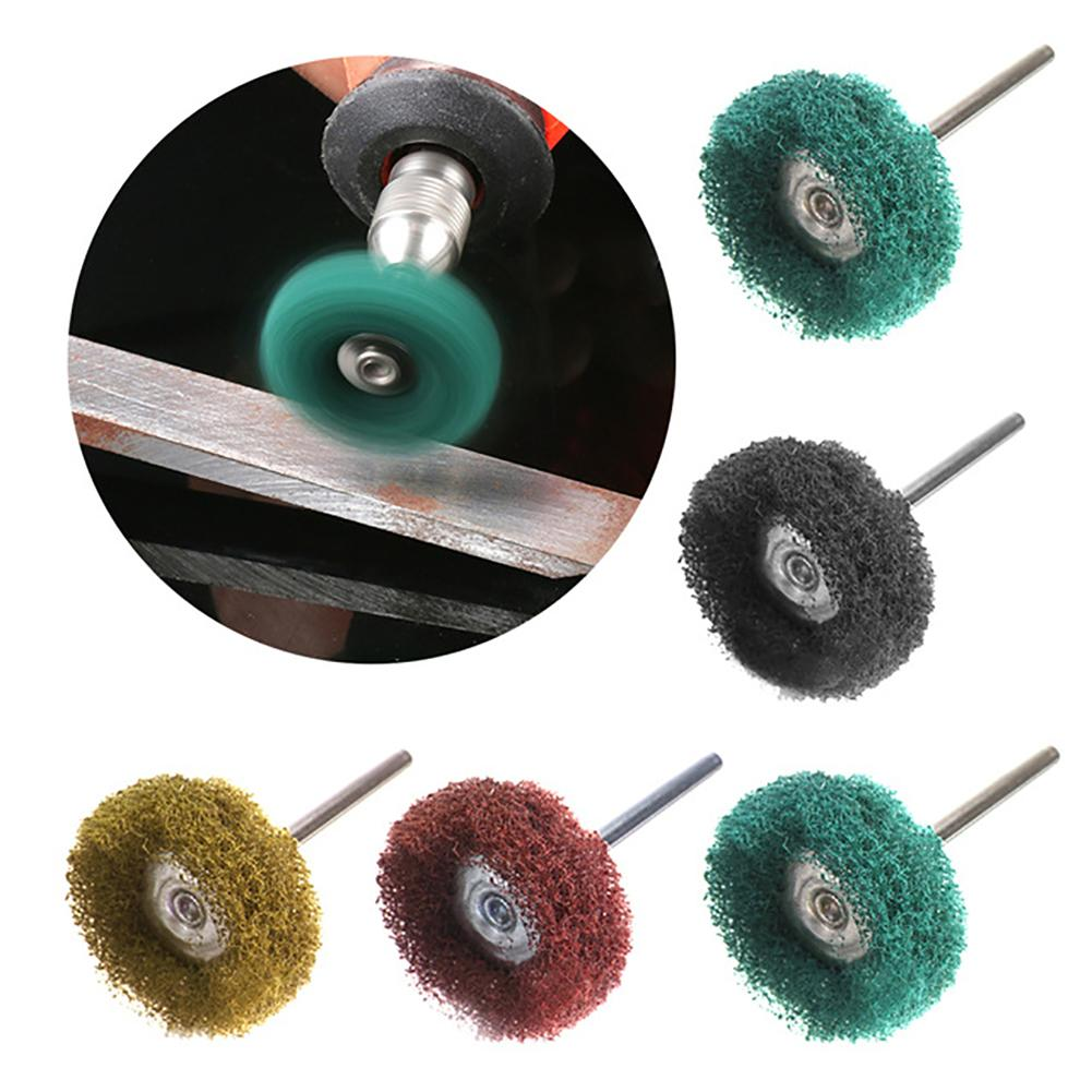 4/12/20Pcs Safe Basically Replace With Handle Polishing Buffing Small Abrasive Grinding Wheel Pad Brush For Dremels Rotary Tools
