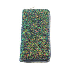 Women Long Wallet Sparkly Sequined Clutch Glitter Faux Leather  Phone Bag Card Holder Coin Purse Lady Wallets PU