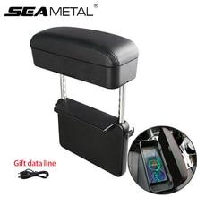 アップグレード車アームレストボックス収納調整可能な車の肘サポートケースオートシートギャップフィラーオーガナイザーワイヤレスusbライン充電ギフト