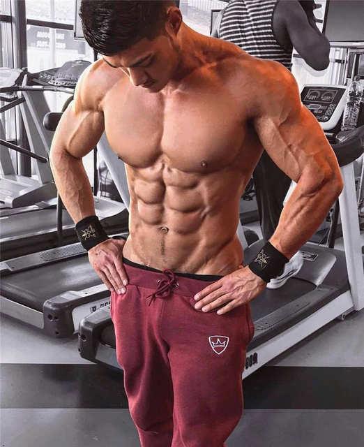 2019 Fashion Men Gyms Pants Joggers Fitness Casual Long Pants Men Workout Skinny Sweatpants Jogger Tracksuit Cotton Trousers 4