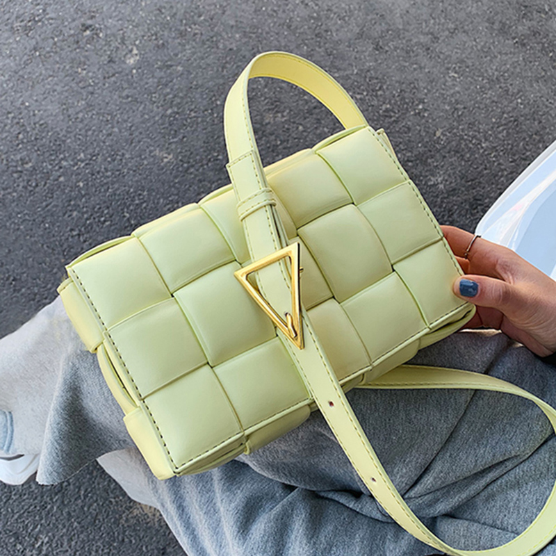 Small Weave Flap Bags For Women 2020 New Good Quality Fashion PU Leather  Shoulder Crossbody Bag Female Summer Handbags