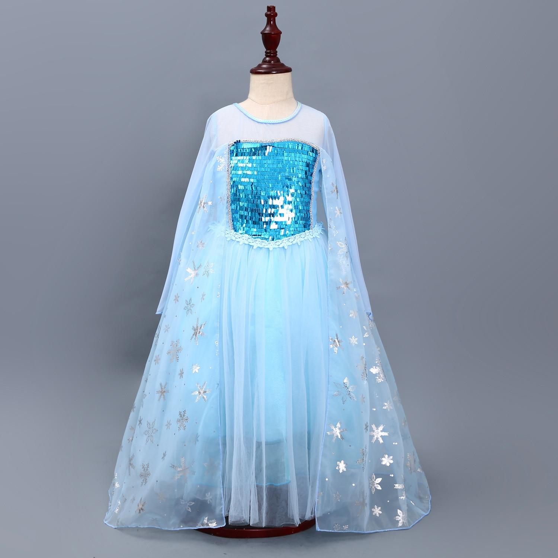 Lot 2 Robes Princesse Elsa Anna Robe Filles D/éguisements Reine des Neige 2 Enfant Cosplay Halloween No/ël Performance F/ête Anniversaire Costume