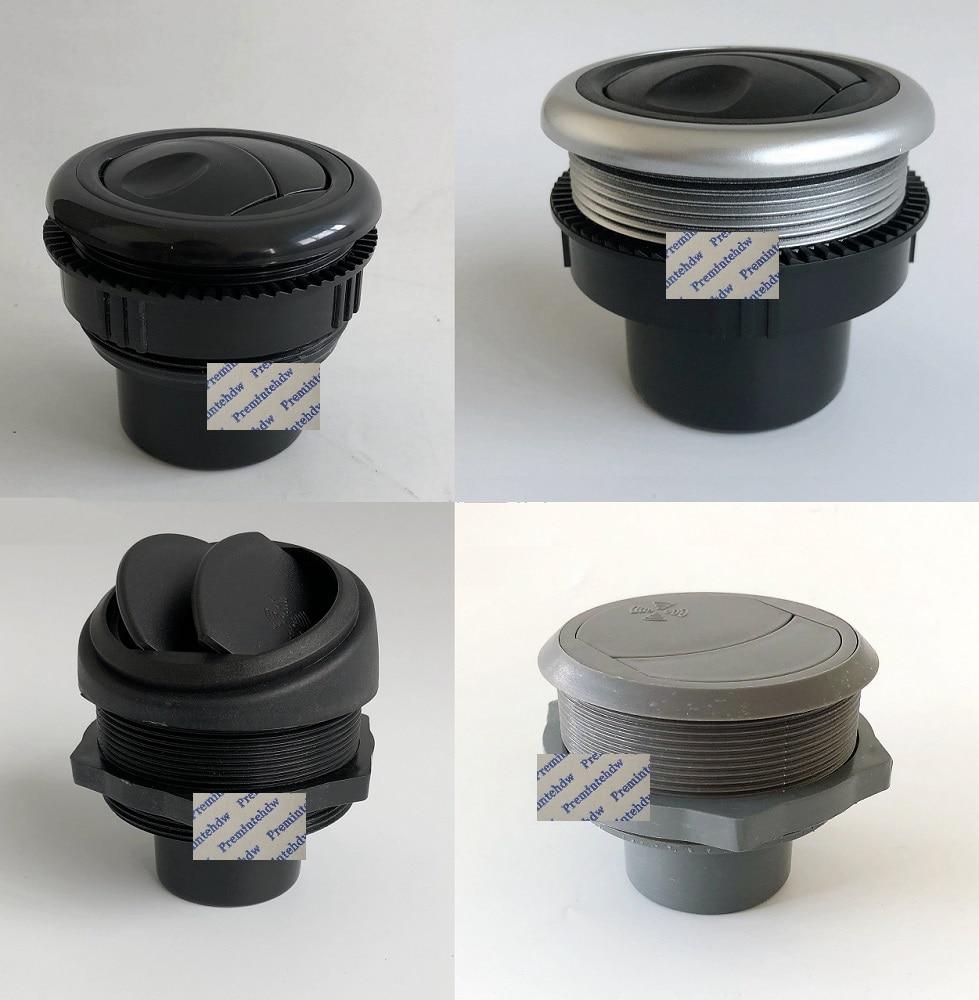 2Pcs/Lot Round Flow Adjustable ABS Air Vent Dispenser Outlet A/C Air Conditioner RV Travel Trailer Car Caravan Instrument Panel