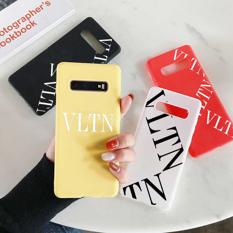WDLUCKY Luxury brand Italy VLTN soft silicon cover case for Samsung S8 S9 S10 S10PLUS Note8 9 10 10plus S1phone Case coque Capa