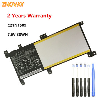 ZNOVAY C21N1509 Laptop Battery for ASUS X556UA X556UB X556UF X556UJ X556UR X556UV A556U F556UA K556U K556UA K556UV 7.6V 38WH akemy x556uv rev 3 1 x556uj rev 2 0 hdd board for asus a556u f556u k556u fl5900u r556u vm590u hard disk board 100