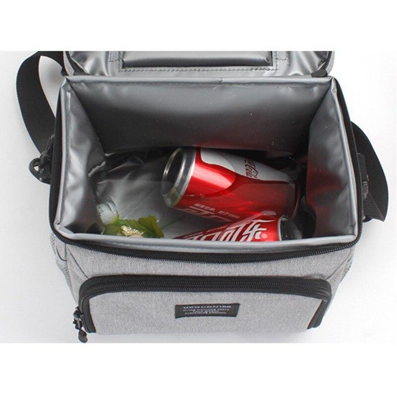 8L imperméable à l'eau frais garder boîte Oxford tissu EVA alimentaire isolation sac à déjeuner simple-épaule bière à emporter Pack fermeture éclair sac de pique-nique - 4