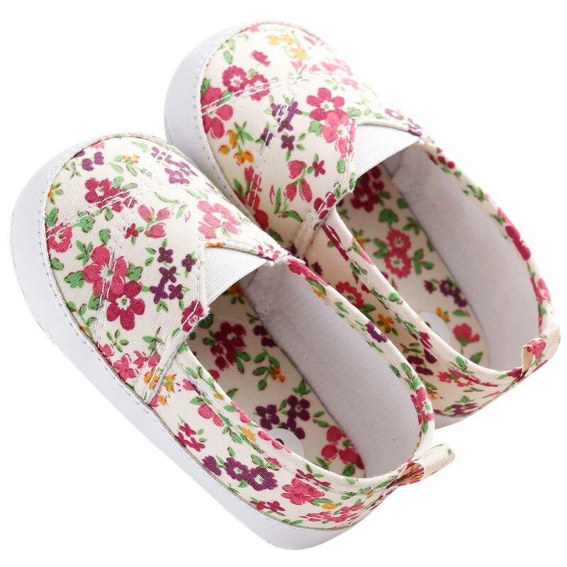 Для детей; для малышей; для девочек с цветочным рисунком, для тех, кто только начинает ходить, От 0 до 1 года детская обувь на мягкой подошве;