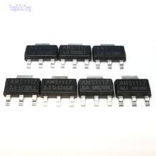 10 pces ic reg lin ams1117 1.2v 1.5v 1.8v 2.5v 3.3v 5v adj sot223 1117 regulador de tensão lm1117