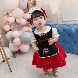 Meninas do bebê vestido novo chegada vestido de bebê para a menina 1st festa de aniversário princesa traje vestido de algodão da criança do bebê meninas roupas