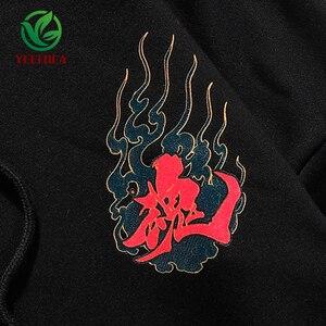 Image 4 - 2019 Hip Hop Hoodie Sweatshirt Mannen Casual Herfst Katoen Snake Print Devil Top Kwaliteit Harajuku Zwart Tops