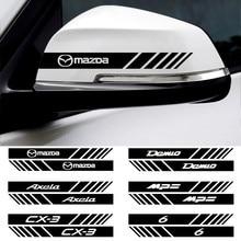 Car styling 2Pcs retrovisor Do Carro espelho reflexivo adesivos à prova d' água Para BMW E34 E46 E39 E53 E60 E90 F30 X1 X3 X5 X6 Decorativos