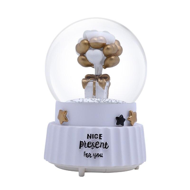 Романтические воздушные шары украшения для дома музыкальная шкатулка для девочек Подарки на день рождения хрустальный шар Настольный Деко
