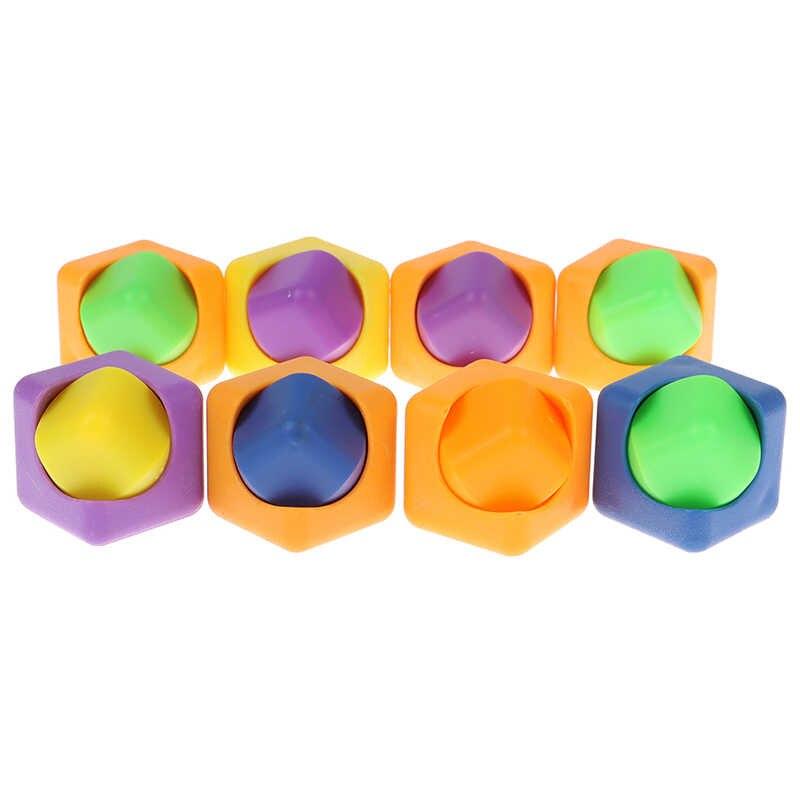 Aliviar o estresse brinquedos 1 pc plástico cor mágica dedo girador fidget