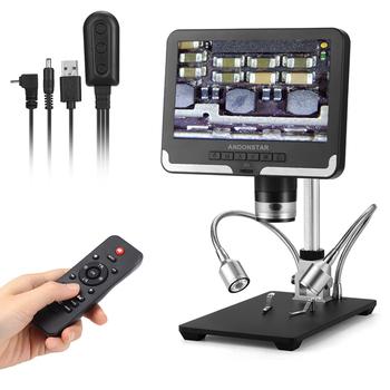 Mikroskop cyfrowy Andonstar AD206 1080P mikroskop lutowniczy do naprawy telefonu SMD SMT tanie i dobre opinie 500X i Pod Metal Mikroskop wideo Lornetka Black White 2Mega Pixels HD Sensor FHD1920X1080 30FPS 1080P 1440X1080 30FPS 720P 1280X720 30FPS