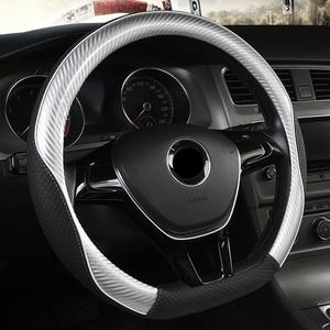D Vorm Stuurwiel Leer Carbon Fibre Voor Vw Golf 7 2015 Polo Jatta Suzuki Swift 2018 2019 Nissan rogue 2017 2018