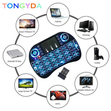Mini i8 Air mouse English Wireless Keyboard Touchpad Normal i8 keyboard For Android TV BOX x96 Air Mouse PS3 PC Hebrew Arabic q9 mini keyboard 2 4ghz wireless keyboard with touchpad air mouse remote control for android tv box t9 x96 mini max aaa battery