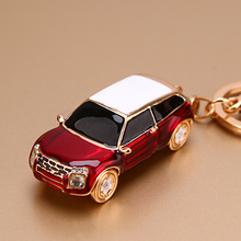 New Fashion Crystal Car Key Chain Creative Rhinestones Keychain Ladies Bag Pendant Girl Jewelry Gift Mens