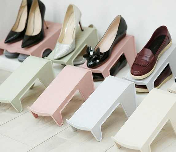 Double-layer Simple Shoe Organizer Footwear Support Storage Shoe Rack Stand Space Saving Cabinet Closet Stand for Living Room