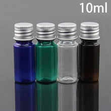10ml Plastic Water Bottle Cosmetic Makeup Essential Oil Small Perfume Travel Packaging Container Blue Green Brown Free Shipping