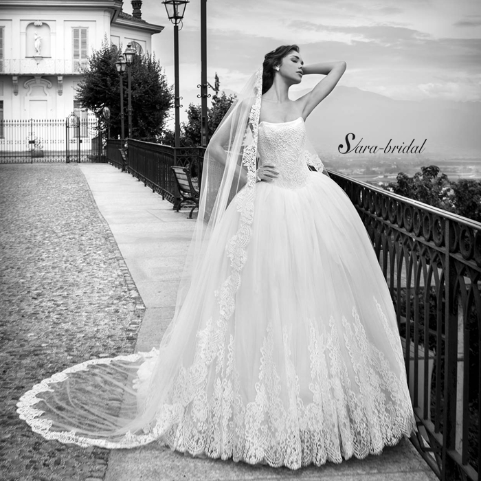 Brides Dresses Sexy Strapless Robe De Mariage 2016 Lace Wedding Dress Ball Gown Appliques Off The Shoulder Vestido De Noiva