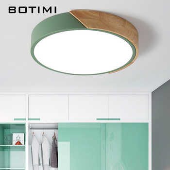 BOTIMI 220V LED Ceiling Lights Nordic Style Round Ceiling Mounted Lamp For Bedroom Wooden Kitchen Lighting Fixture - DISCOUNT ITEM  40% OFF All Category