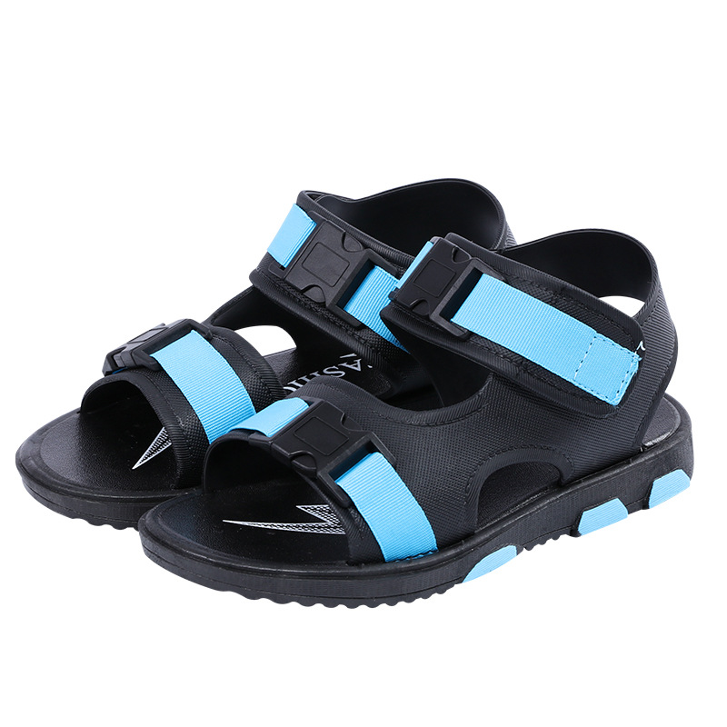 2020 New Summer Children Sandals For Boys Flat Beach Shoes Kids Sports Casual Student Leather Sandals Soft Non-slip Fashion Wild