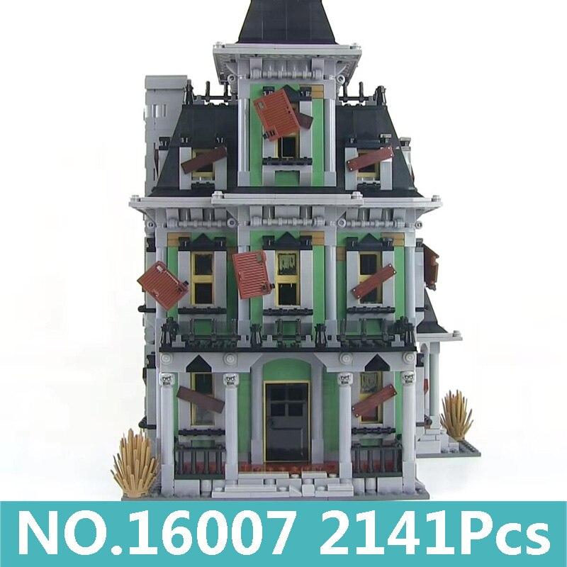 Rey ladrillos Lepinblocks 16007 casa embrujada construcción bloques arquitectura película Ciudad casa 10228 Halloween regalo juguetes con figura-in Bloques from Juguetes y pasatiempos    1