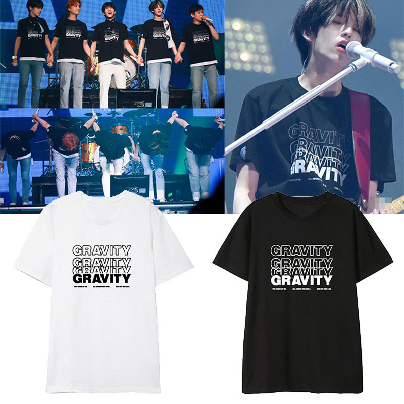Kpop DAY6 GRAVITY Album Shirts Hip Hop Casual Loose Clothes Tshirt T Shirt Short Sleeve Tops T-shirt DX1192