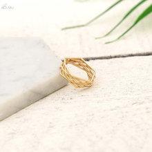 AOMU Модные кольца для женщин, Винтажное кольцо ручной работы с короной, оригинальное кольцо, очаровательное ювелирное изделие