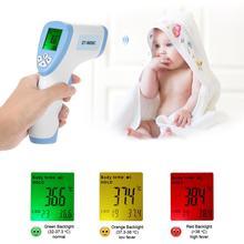 Cyfrowy termometr na podczerwień do czoła bezdotykowy termometr na podczerwień cyfrowy termometr na podczerwień cyfrowy termometr Adulto dla dziecka tanie tanio KKMOON CN (pochodzenie) DT-8809C DIGITAL Gospodarstwa domowego Aaa baterii Ręczny