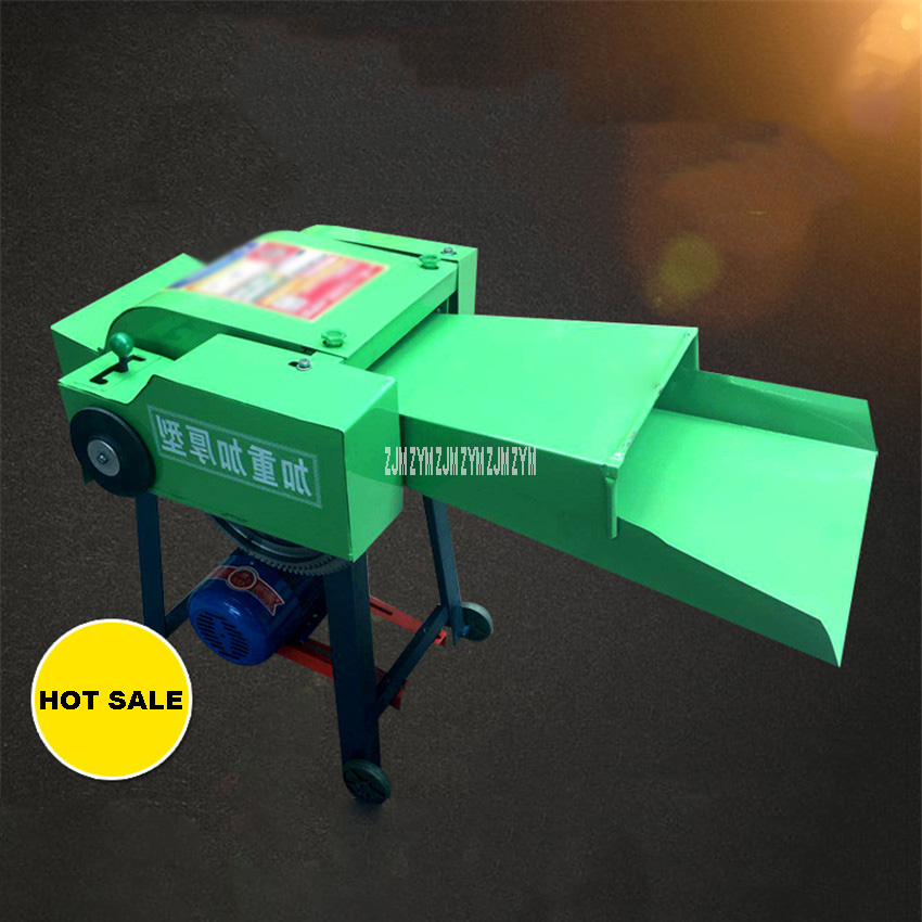 6-Blade 220V 2.2KW Copper Core Motor Dry And Wet Hay Cutter Chaff Cutter Forage Crop Crusher Corn Straw Feed Processing Machine