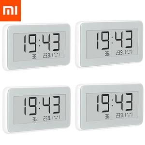 Image 1 - Xiaomi MIJIA BT4.0 kablosuz akıllı elektrik dijital saat kapalı ve açık higrometre termometre LCD sıcaklık ölçme araçları