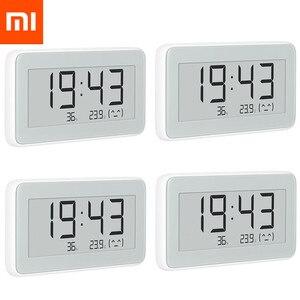 Image 1 - Xiaomi MIJIA BT4.0 אלחוטי חכם חשמלי דיגיטלי שעון מקורה וחיצוני מדדי לחות מדחום LCD טמפרטורת מדידת כלים