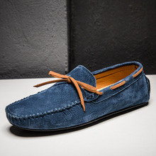 Zplover Size 49 Men Casual Shoes Fashion Loafers Genuine Leather Moccasins Slip On Men's Flats Driving