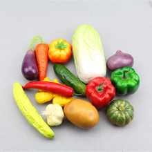 Simulation vegetable photography props home cabinet decoration children's toys teaching AIDS foam material 14pcs/set
