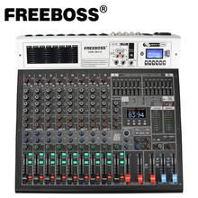 Freeboss ADM-GBA10 10 kanal 48V fantom güç Repaeat etkisi USB Play & Record Bluetooth Karaoke DJ konsolu 99DSP karıştırıcı ses