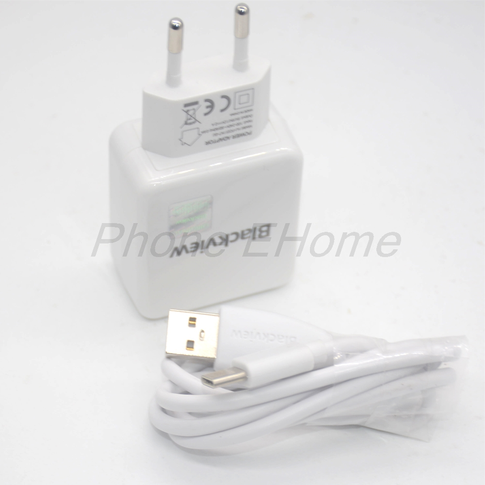 Usb-Power-Adapter-Charger Switching Power-Supply Usb-Cable Eu-Plug BV9000 Travel Blackview