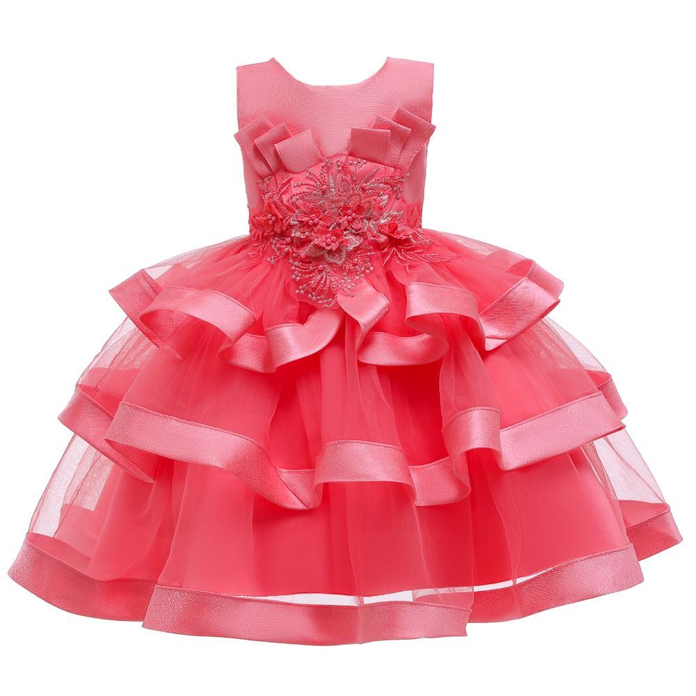 Girls Dress Elegant New Year Princess Children Party Dress Wedding Gown Kids Dresses for Girls Birthday Party Dress Vestido Wear 17