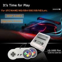 Super consola de juegos Retro HD 4K para Super Nintendo MD 1600, minicontrolador emulador de juegos prefijo, salida de TV AV, regalo