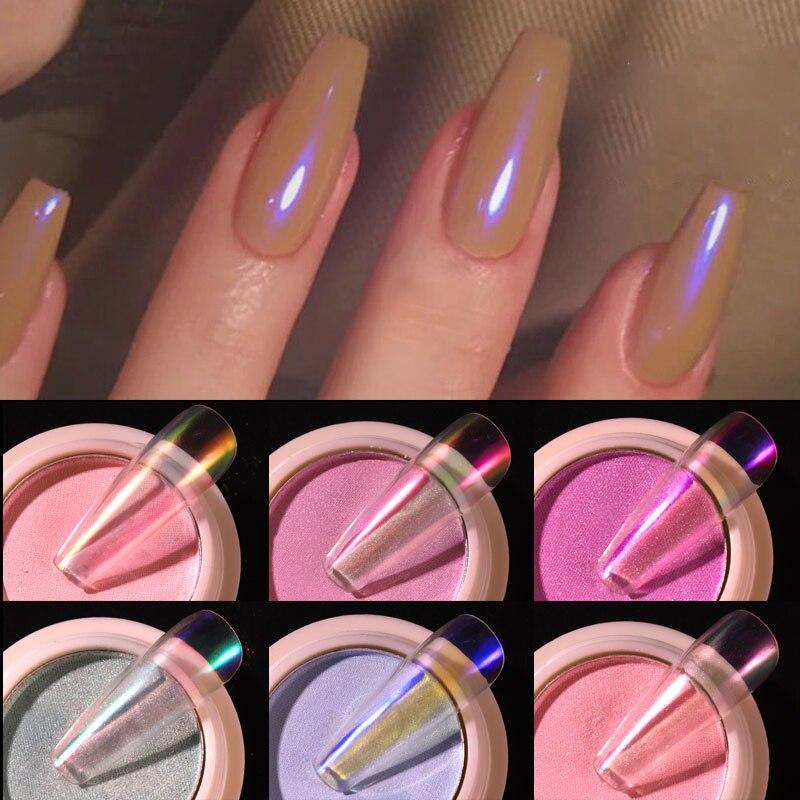 1 г/коркор. прозрачные блестки для ногтей зеркальные неоновые порошки Аврора пыль Хамелеон дизайн ногтей хромовый пигмент окуниваемая пудра украшение|Блестки для ногтей| | АлиЭкспресс