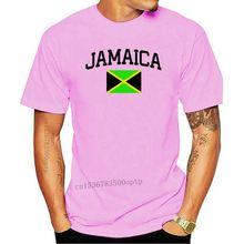 Nowy 2020 letni styl T-Shirt z nadrukiem dla mężczyzn jamajka koszulka z flagą kraj duma dodaj swoje imię Numbercreate Your Owe T Shirt tanie tanio CASUAL SHORT CN (pochodzenie) COTTON Cztery pory roku Na co dzień Z okrągłym kołnierzykiem tops Z KRÓTKIM RĘKAWEM