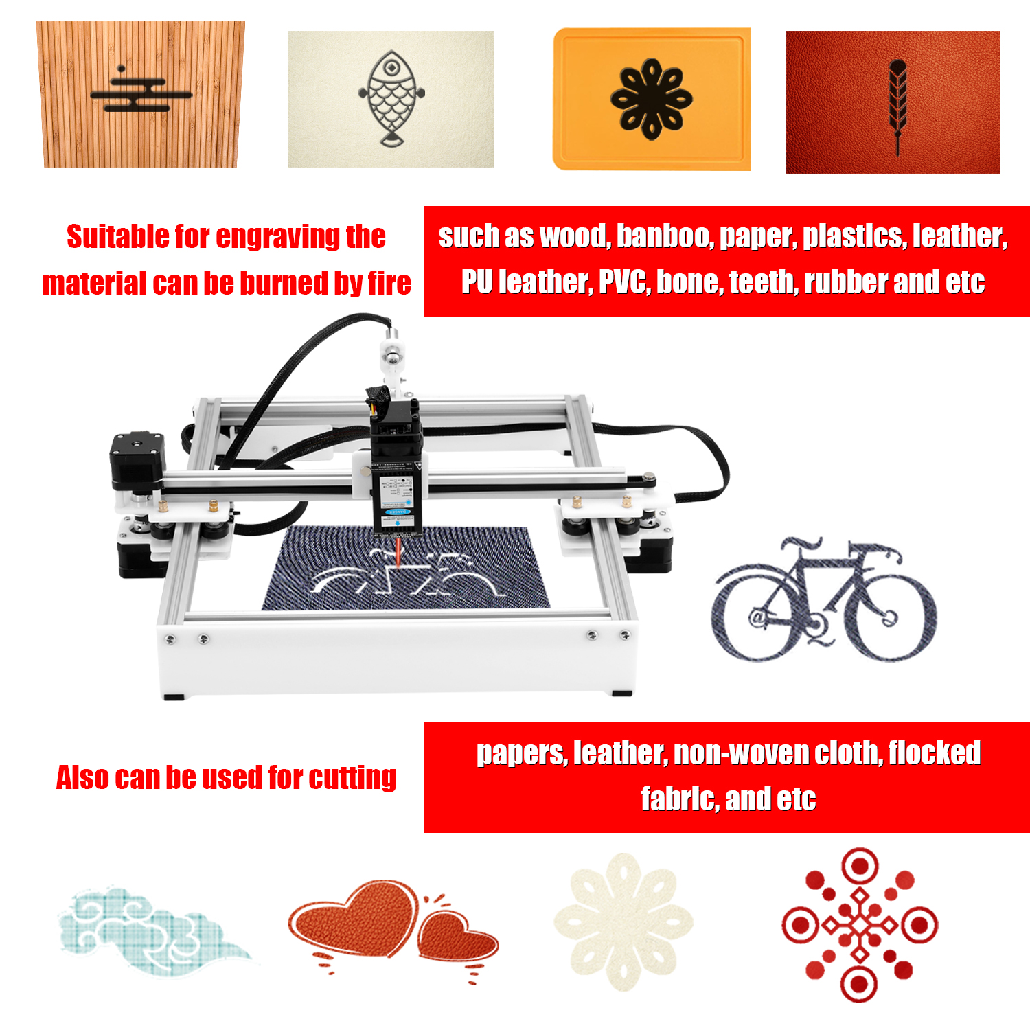 CNC Laser Engraving Machine With Offline Control for Logo Marking 3