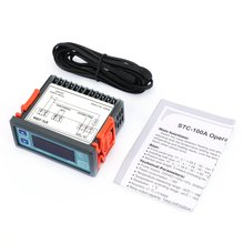 Цифровой регулятор температуры, термостат для холодильника, терморегулятор, датчик термопары, STC-100A