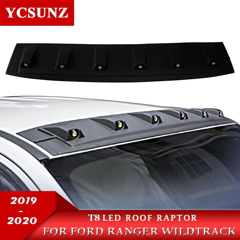 2012-2020 2019 led telhado luz raptor estilo acessórios de telhado para ford ranger wildtrack t8 2019 2020 t6 t7