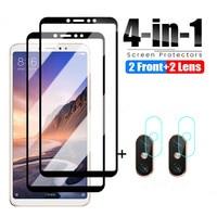 Vetro protettivo 4 in 1 per Xiaomi Mi Max 2 3 Mix 2 2S 3 vetro temperato per Xiaomi Mi A3 A2 Lite A1 pellicola protettiva per vetri