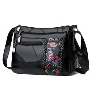 Image 5 - Frauen Aus Echtem Leder Taschen Mode blume Schulter Taschen Für Damen Umhängetaschen Luxus Designer Weiblichen Handtasche 2020 Neue