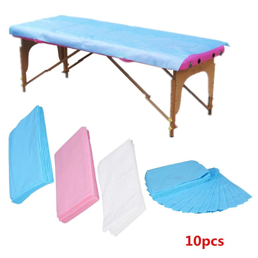 10 pces nao tecido esteril higienico massagem beleza spa tatuagem descartavel massagem salao de beleza cama