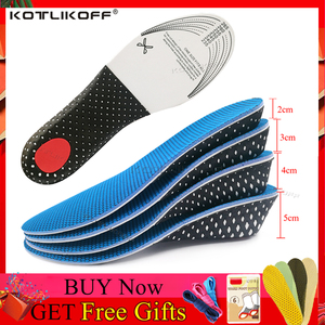 KOTLIKOFF 1 Pair Shoe Insoles 2-5cm Height Increase Insole Cushion Height Lift Shoe Heel Insert Taller Unisex Quality Foot Pads