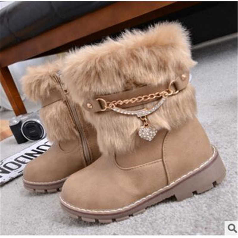 2019 new winter boots the rabbit children girls boots non-slip snow boots warm big virgin girls boots